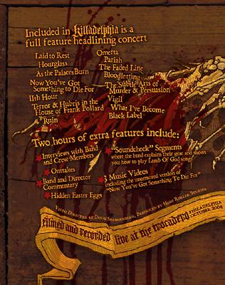 Packaging Design For Lamb Of Gods Platinum Selling Killadelphia DVD