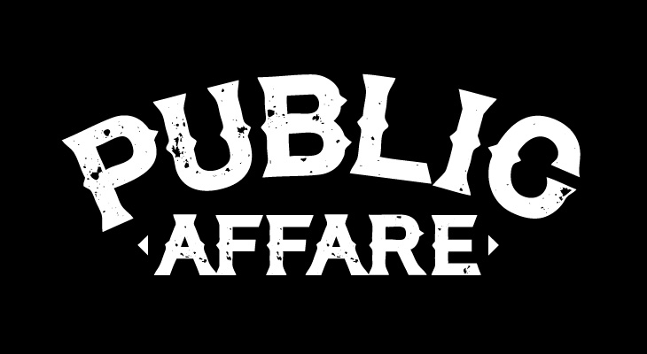 publicaffare logotype white on black