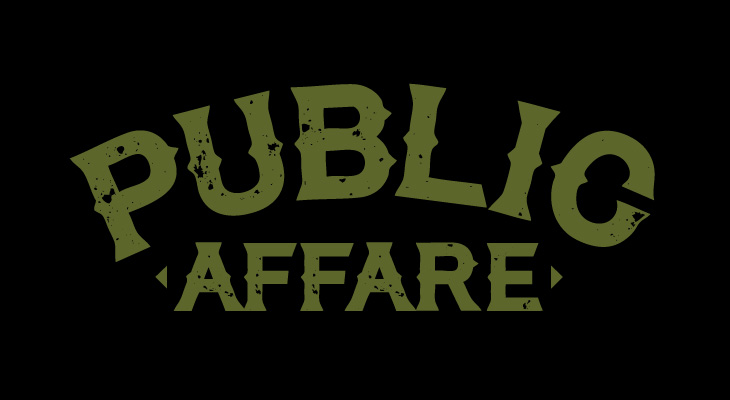 publicaffare logotype green on black